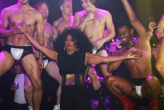 Diana Ross partying at The Abbey Weho